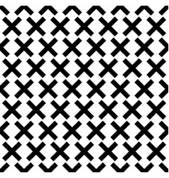 Seamless pattern with x shape art vector