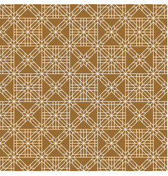 seamless traditional japanese ornamentgolden vector image