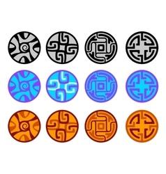set of tribal decorative elements vector image