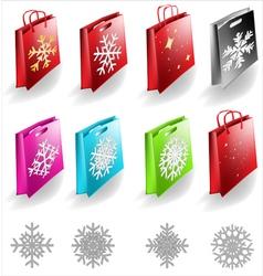 Shopping bags set vector