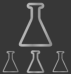 Silver line laboratory logo design set vector