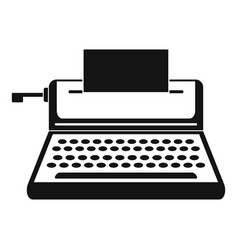 Small typewriter icon simple style vector