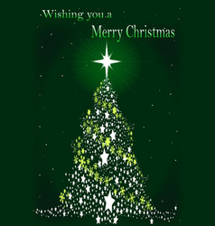Star spangled christmas tree vector