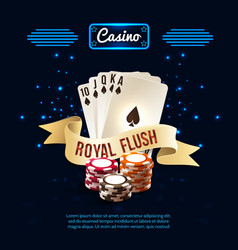 stylish casino realistic composition vector image