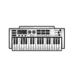 synthesizer sketch vector image