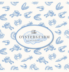 the oysters farm abstract sign symbol or vector image