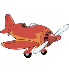 The red plane vector image