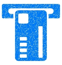 Ticket Machine Grainy Texture Icon vector
