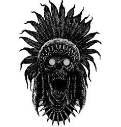 Tribe skull vector