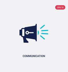 two color communication icon from blogger and vector image