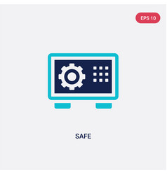 two color safe icon from hotel concept isolated vector image