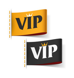 vip labels vector image