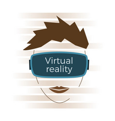 virtual reality concept vector image
