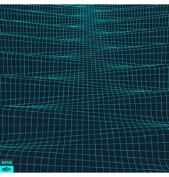 Wavy Grid Background 3d Abstract vector