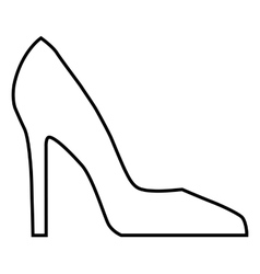 Woman shoe line icon vector image