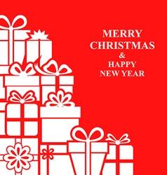 xmas gift card red vector image