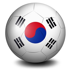 A ball with the flag of South Korea vector image vector image