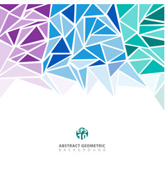 abstract purple blue green geometric and vector image vector image