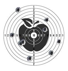 bullet holes in target success shot paper vector image
