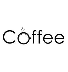logo coffee vector image vector image