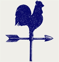 Cockerel wind vane vector image