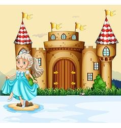 Cute princess at the palace vector image vector image