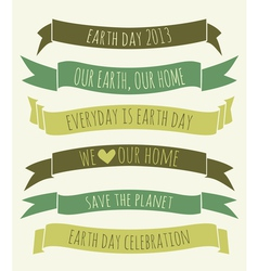 Earth Day Banners Collection vector image vector image