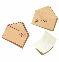 letter and envelopes vector image vector image