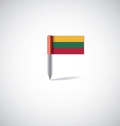 lithuania flag pin vector image vector image