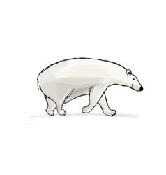Polar bear sketch fro your design vector image