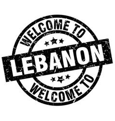 welcome to lebanon black stamp vector image