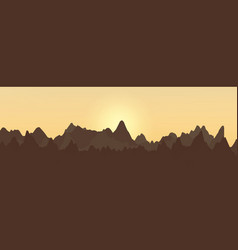 abstract landscape design with mountains and vector image