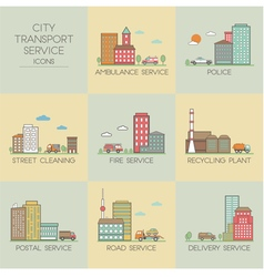 City transport service vector image vector image