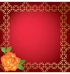 red card with golden borders vector image
