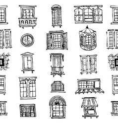 set of various window shapes vector image vector image