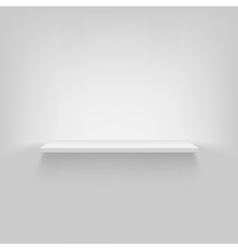 Shelf attached to the wall vector image vector image