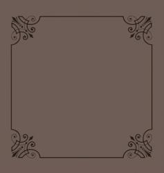 vintage ornamental frame series vector image vector image