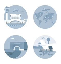 Air logistics and Freight Transport vector image