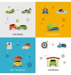 Car Insurance Set vector image vector image