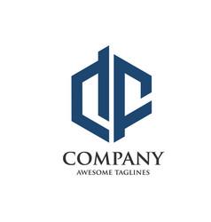 creative letter df logo vector image