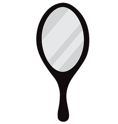 Round mirror vector image vector image