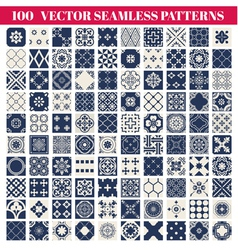 100 Seamless Patterns Background Collection vector image vector image