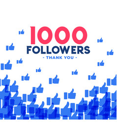 1000 followers or thousand subscribers template vector