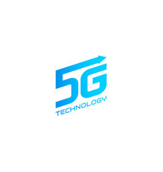 5g symbol design template vector image