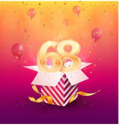 68th years anniversary design element vector