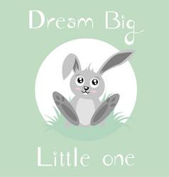A baby bunny vector
