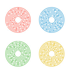 Simple Circle Maze Vector Images (over 450)