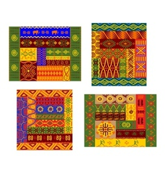 African primitive geometric ornamental pattern vector image