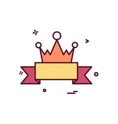 badge crown icon design vector image