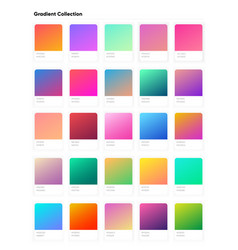beautiful color gradient collection gradients vector image